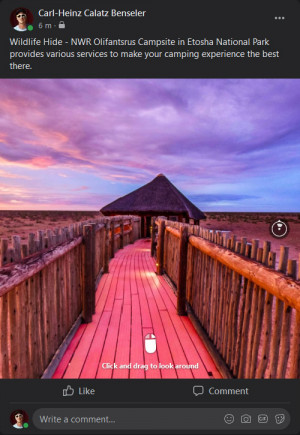 Posting virtual tours on Facebook