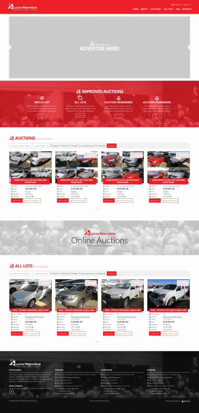 Aucor Namibia Online Auctions Home Page