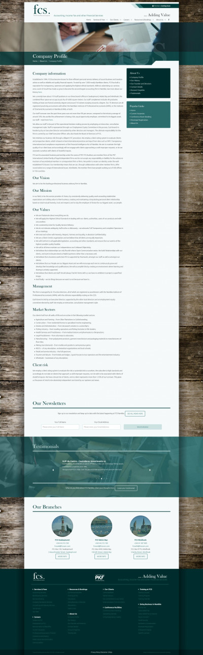 FCS - Company Profile (Content layout)